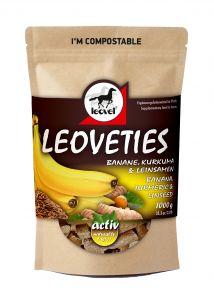 LEOVETIES Leckerli Banane Kurkuma Leinsamen
